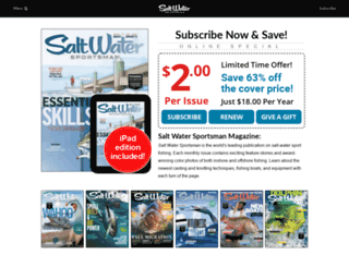 subscriptions.saltwatersportsman.com screenshot