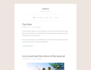 subsect.wordpress.com screenshot