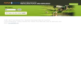 subsidi.pupukkaltim.com screenshot