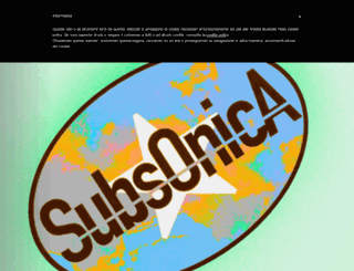 subsonica.it screenshot