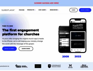 subsplash.com screenshot