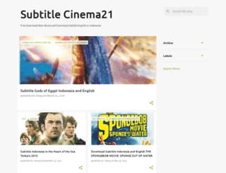 subtitle-cinema21.blogspot.com screenshot