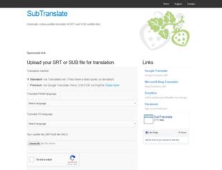 subtranslate.com screenshot