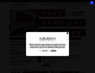 suburbanwines.com screenshot