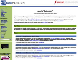 subversion.apache.org screenshot