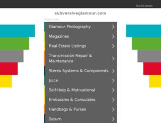 subversiveglamour.com screenshot