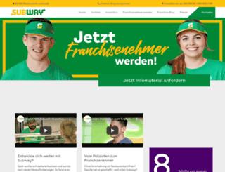 subway-franchise.de screenshot