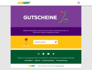 subway-gutscheine.de screenshot