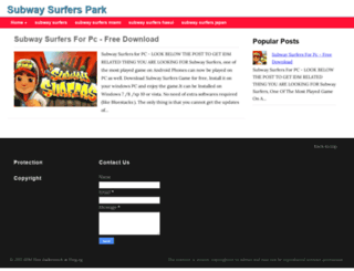 subwaysurferspark.blogspot.in screenshot
