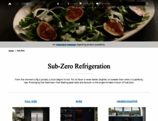 subzero.com screenshot