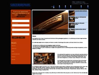 subzerorepairs.org screenshot