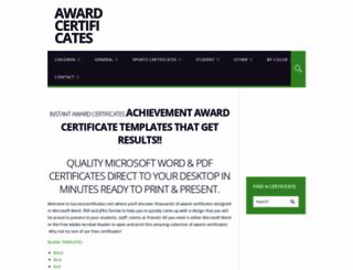 successcertificates.com screenshot