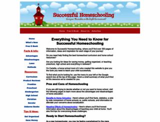 successful-homeschooling.com screenshot