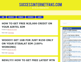successinternetfans.com screenshot