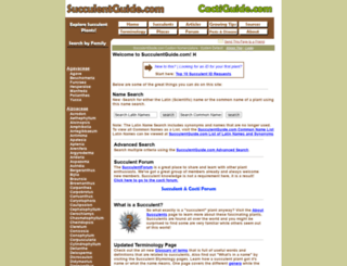 succulentguide.com screenshot