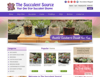 succulentsource.com screenshot