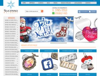 sucessobrindes.com.br screenshot