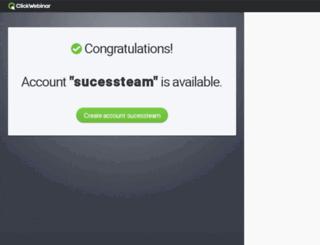 sucessteam.clickwebinar.com screenshot