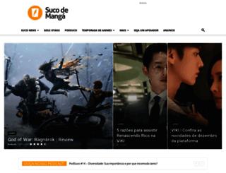 sucodemanga.com.br screenshot