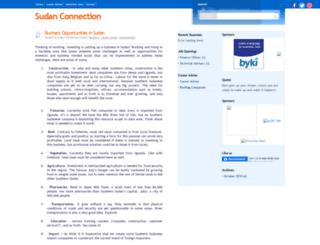 sudanconnection.blogspot.com screenshot