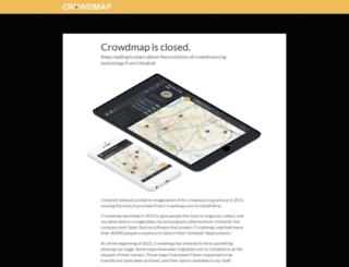 sudanelection.crowdmap.com screenshot