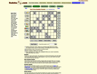 sudoku9x9.com screenshot