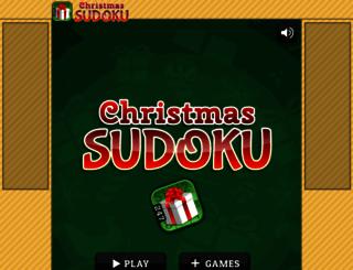 sudokuchristmas.com screenshot