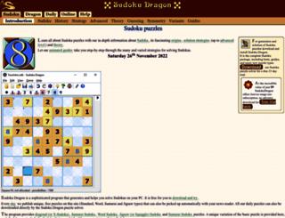 sudokudragon.com screenshot