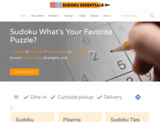 sudokuessentials.com screenshot