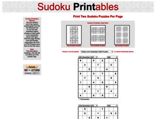 sudokuprintables.org screenshot