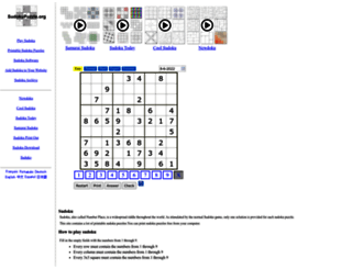 sudokupuzzle.org screenshot