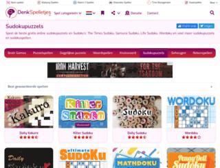 sudokuspelen.nl screenshot
