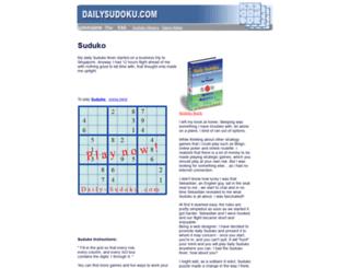 sudukogame.com screenshot