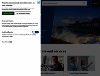 suffolkcc.gov.uk screenshot