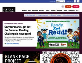 suffolklibraries.co.uk screenshot
