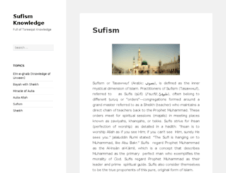 sufism-knowledge.com screenshot