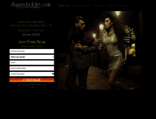 sugardaddie.com screenshot