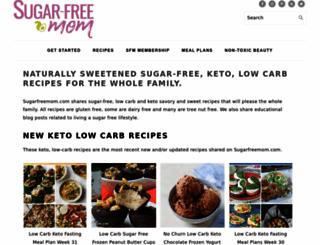 sugarfreemom.com screenshot