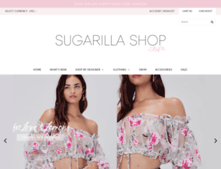 sugarillashop.com screenshot