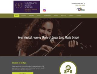 sugarlandmusicschool.com screenshot