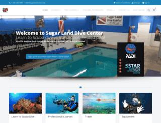 sugarlandscuba.com screenshot