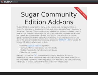 sugaropensource.org screenshot