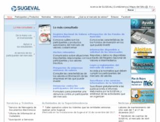 sugeval.fi.cr screenshot