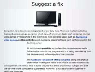 suggestafix.com screenshot
