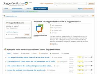 suggestionbox.suggestionbox.com screenshot