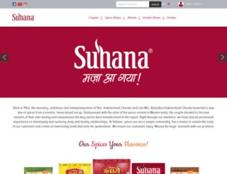 suhana.co.in screenshot