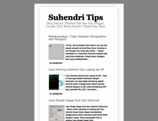 suhendritips.blogspot.com screenshot