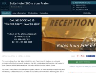 suitehotel200m-zum-prater.h-rsv.com screenshot