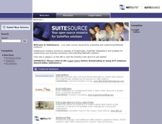 suitesource.netsuite.com screenshot