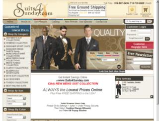 suits4sunday.com screenshot